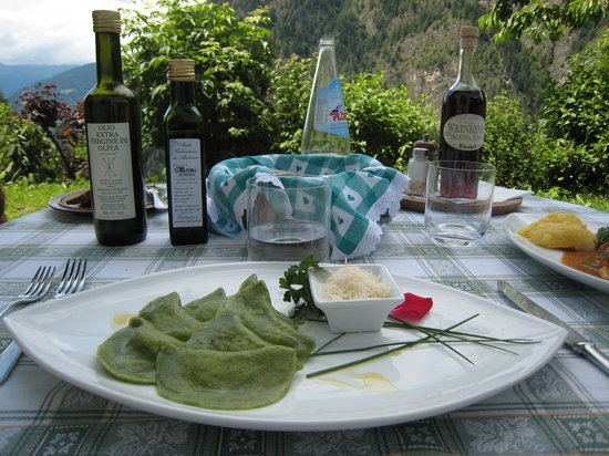 Val di Vizze, อิตาลี: schlutzkrapfen