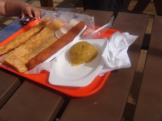 "Guayama, Puerto Rico: Pastelillo 12"", Alcapurria y Mofongo"