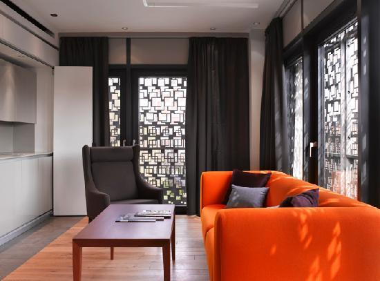 Living room area - Executive One Bedroom Apartment - Picture ...