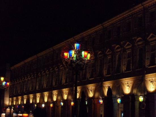 Turin, Italy: luci d'artista in piazza S. Carlo
