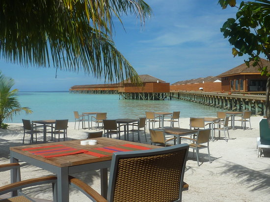 Vilamendhoo Island Resort & Spa : looking over the water villas