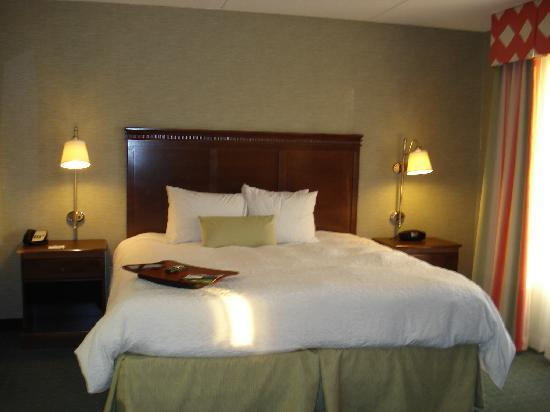 Hampton Inn & Suites Columbus Polaris: Nice roomy King Sized Bed!