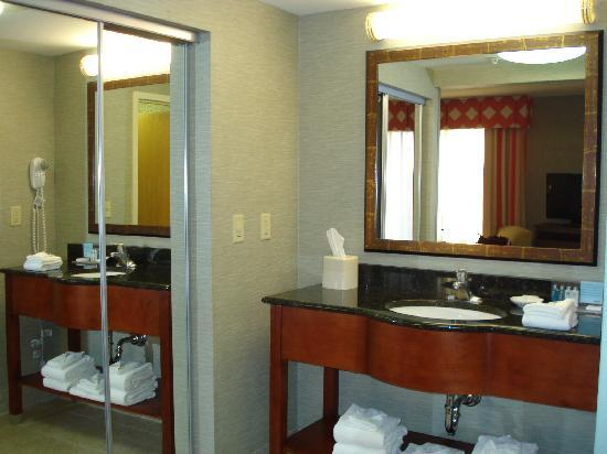 Hampton Inn & Suites Columbus Polaris: Vanity Area with Large Closet