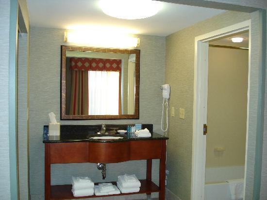 Hampton Inn & Suites Columbus Polaris: Vanity separate from Shower & Toilet!