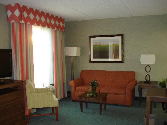 Hampton Inn & Suites Columbus Polaris: Roomy area to relax or work!