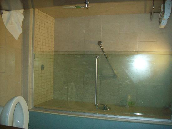 Hyatt Place Fort Myers at The Forum: shower with tile and glass doors
