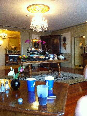 The Ritz-Carlton, New Orleans: One of the food tables