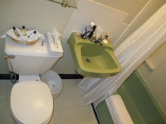"The Great Divide Lodge: Bathroom.... ""Renovated"".... I think not"