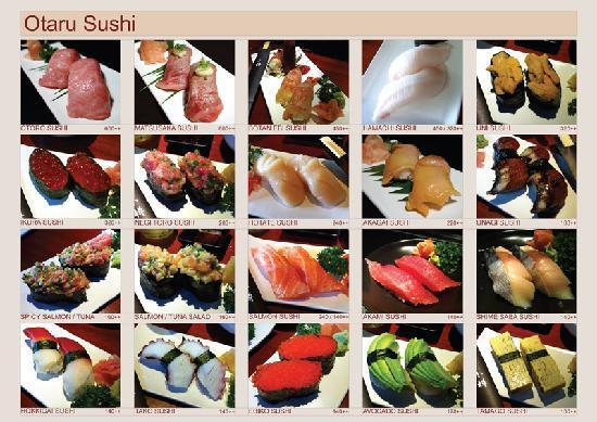 Otaru Sushi Japanese Restaurant: Sushi Menu