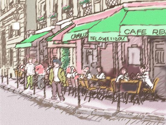 Париж, Франция: サンジェルマン通り
