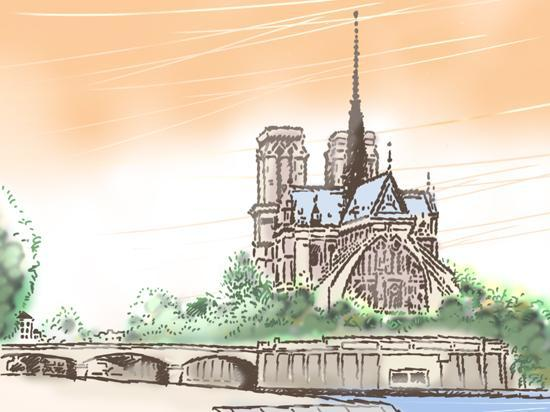 Париж, Франция: ノートルダム寺院