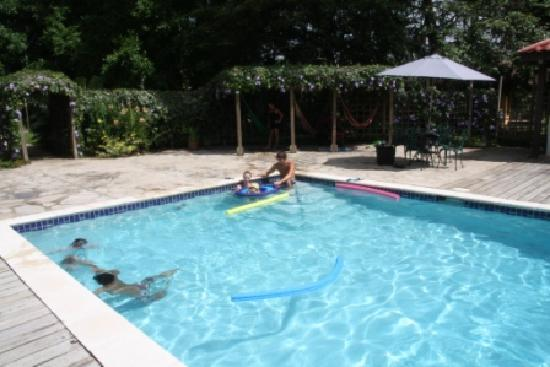 The Lodge At Big Falls: Family enjoying the pool