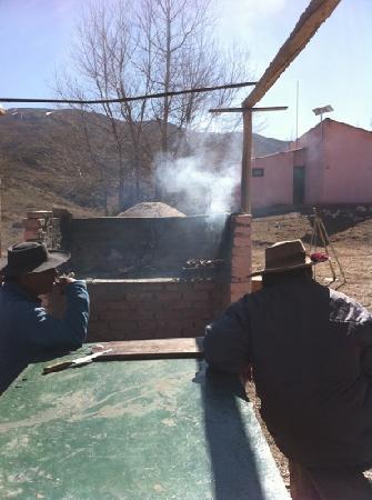 Tupungato, Argentina: Dante en un asado!!!