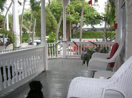 The Palms Hotel- Key West: View from my own personal sitting area