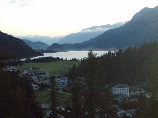Sils im Engadin, Suiza: Blick aus dem Zimmer