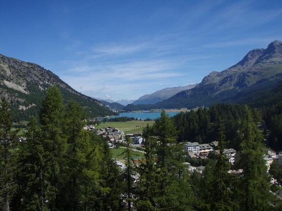 Sils im Engadin, Switzerland: Blick aus dem Zimmer