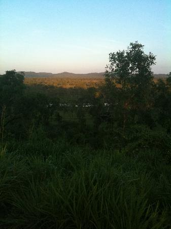 Territorio del Norte, Australia: Sunrise at the lookout and where the phone gets reception.