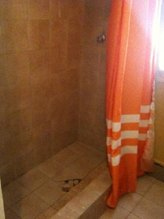 Hostal Corvatsch: Baño del hostel...muy malo!