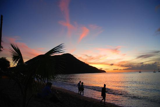 Sunset at Reduit beach
