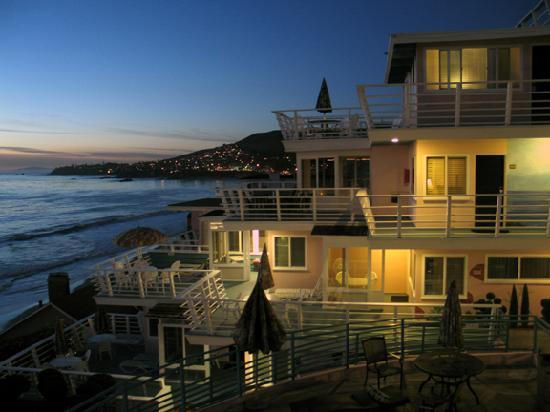 view from our deck just after sunset picture of laguna. Black Bedroom Furniture Sets. Home Design Ideas