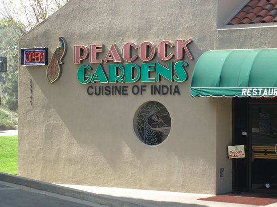 Peacock Gardens Cuisine Of India & Banquet Hall: Sign by main entrance