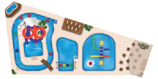 Bridge Vista Beach Hotel & Convention Center: Water park layout