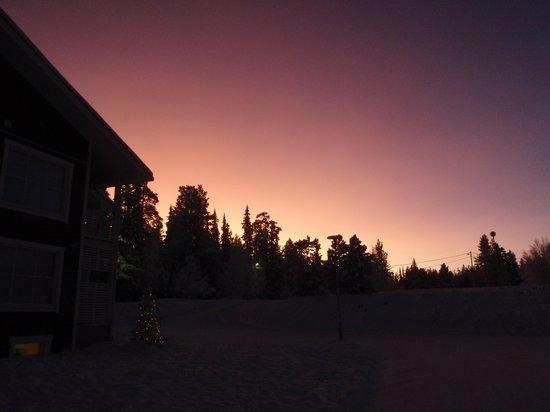 Lapland Hotel Akashotelli: Sunrise (c 10 am!)