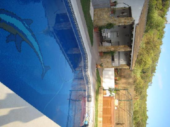 Casa Susanna : The pool area and Summer Kitchen
