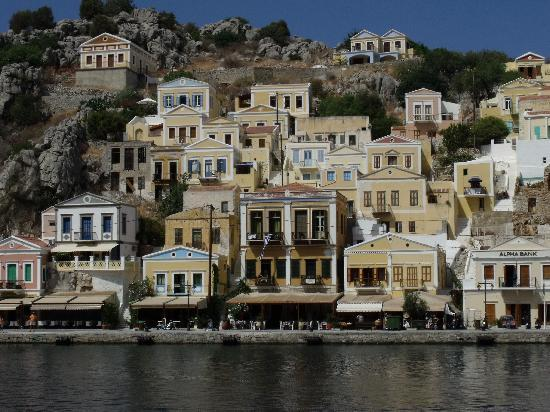 Symi, Greece: View from boat