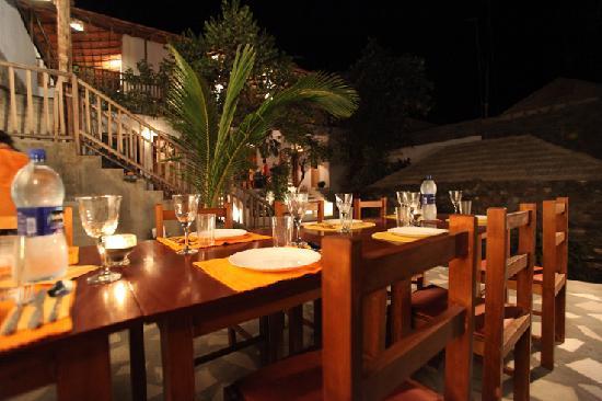 Sao Filipe, Cape Verde: Terrasse gemütlich zum Frühstücken oder Abendessen