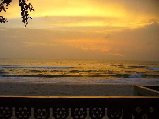 Sans Souci Samui: sunset seen from the terrace