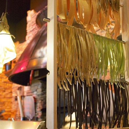 Homemade Pasta Drying On Rack At Pizza Bar Picture Of Rustic Kitchen Hingham Tripadvisor