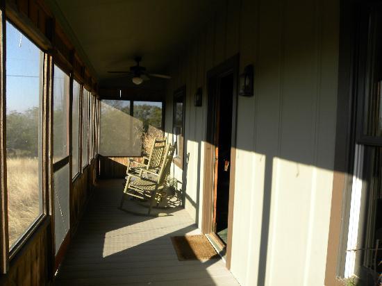 كاتس مياو بد آند بريكفاست: Screened in porch at the Calico