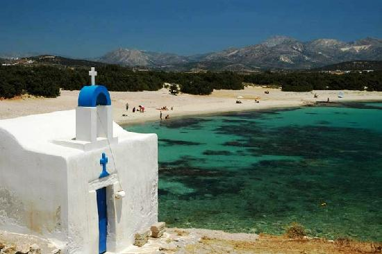 Naxos, Greece: Saint George at Alyko beach