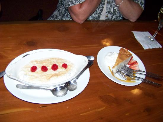 Off the Strip-Just Real Food : Rice pudding and Chef Al's cheesecake