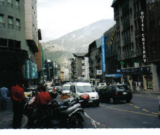 Downtown Andorra la Vella ,Principality of Andorra