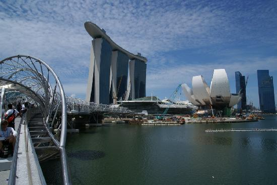 Marina Bay Sands Mit Dachterrasse Quot Skypark Quot Picture Of