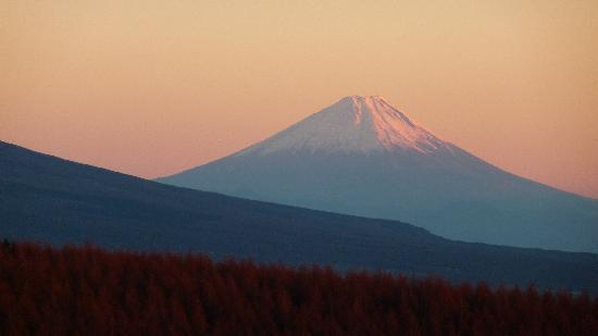 Suwa, Japonya: 富士見台からの展望(富士山)