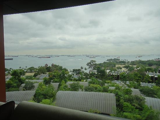 Capella Singapore: 部屋の窓からの景色。
