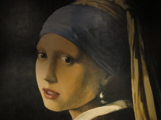 Hotel Johannes Vermeer: Mural comedor