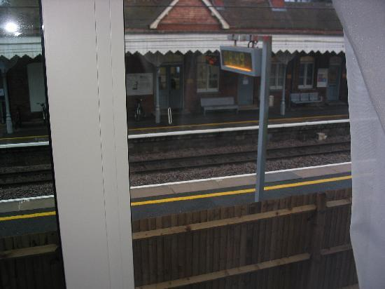 Holiday Inn Express Cambridge Duxford M11 Jct 10: View from my room of the station platform!
