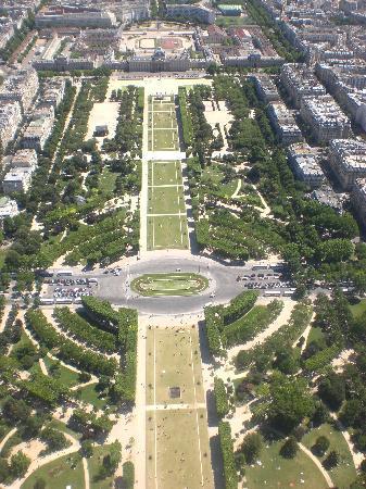 Paris, Frankrig: vista desde lo mas alto de la torre eiffel