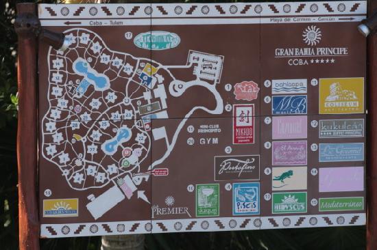 Grand Bahia Principe Coba: Hotel map