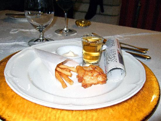 Blagdon Manor Hotel: One of Steve's Chef's Choices miniture Cod & Chips