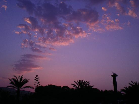 Korba, Tunisien: tramonto al villaggio