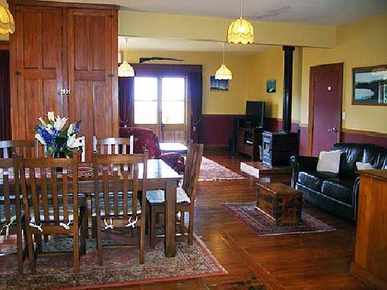 Inside Nikau Lodge's living areas