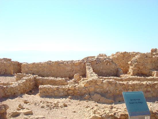 Ein Gedi, Israël : Portion of ruins on Masada