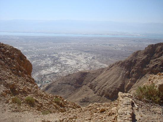 Ein Gedi, İsrail: View from Top of Masada
