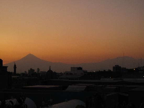 NH Puebla: Aussicht vom der Dachterrasse