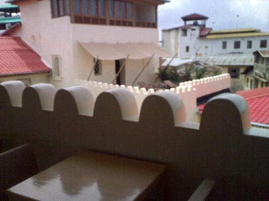 Mashariki Palace Hotel: dalla terrazza verso il centro